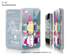 Чехол для iPhone 4/4s - Bunny Best Friends