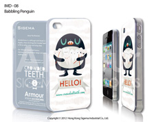 Чехол для iPhone 4/4s Babbling Penguin
