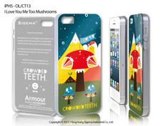 Чехол для iPhone 5 - I love You Me Too Mushrooms