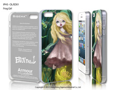 Чехол для iPhone 5 - Frog Girl