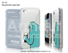 Чехол для iPhone 4/4s - Big Gulp Alien Sugar High